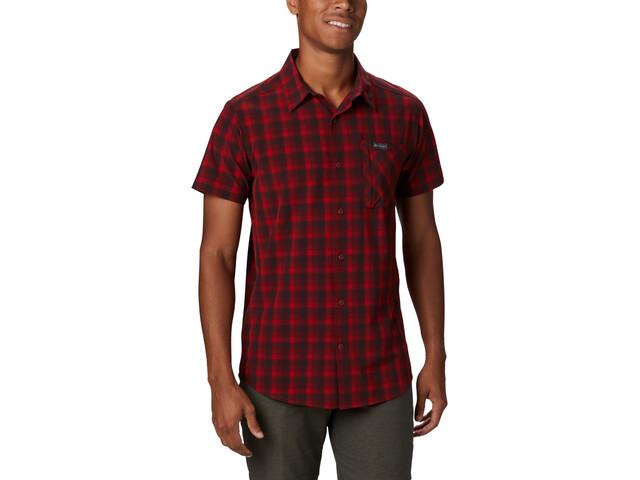 Columbia Triple Canyon T shirt Homme, mountain red mini tonal plaid